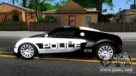 Bugatti Veyron NFS HP Police for GTA San Andreas left view