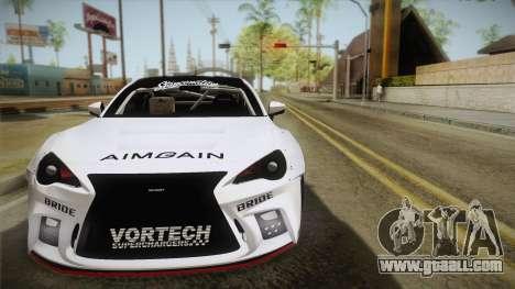Scion FR-S Aimgain for GTA San Andreas back view