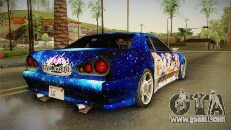 Lovelive Elegy Itasha for GTA San Andreas back left view