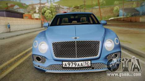Bentley Bentayga for GTA San Andreas right view