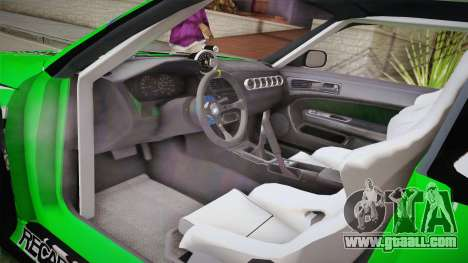 Nissan Silvia S14 Drift Speedhunters Saekano for GTA San Andreas inner view