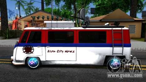 Alien Camper for GTA San Andreas left view