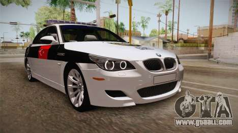 BMW M5 E60 Turkish Police for GTA San Andreas right view