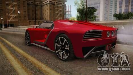 GTA 5 Truffade Nero Cabrio for GTA San Andreas right view