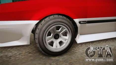 GTA 5 Dinka Blista Cabrio IVF for GTA San Andreas back view