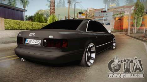 Audi A8 S8 D2 Lowstance for GTA San Andreas back left view