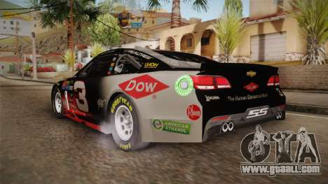 Chevrolet SS Nascar 3 Dow 2017 for GTA San Andreas left view