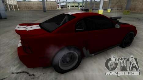 1999 Ford Mustang Drag for GTA San Andreas left view