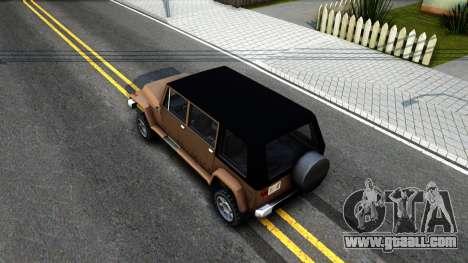 Mesa Crusader for GTA San Andreas back view