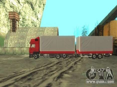 Trailer Chereau for MAN F2000 for GTA San Andreas left view