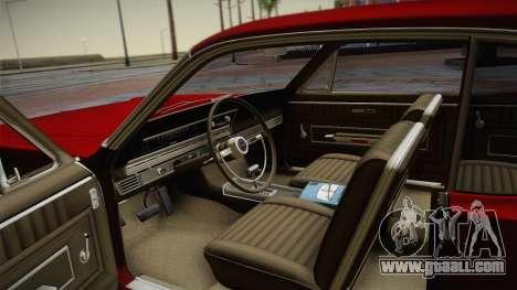 Ford Fairlane 500 1966 HQLM for GTA San Andreas inner view
