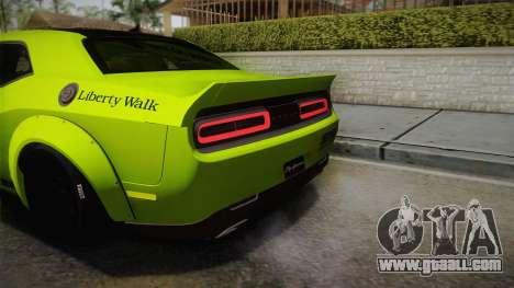 Dodge Challenger Hellcat Liberty Walk LB Perform for GTA San Andreas side view