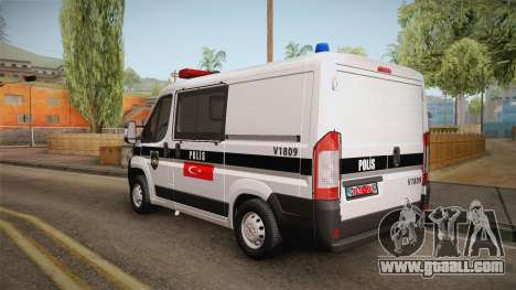 Fiat Ducato Police for GTA San Andreas back left view