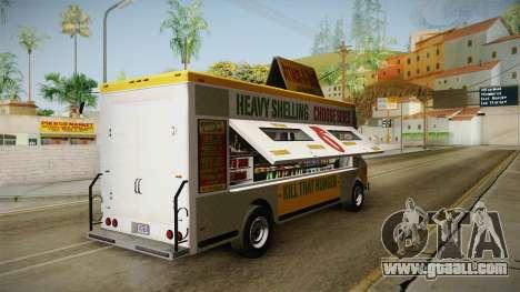 GTA 5 Brute Taco Van IVF for GTA San Andreas back left view