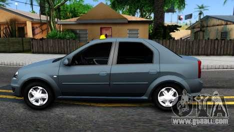 Renault Logan Taxi for GTA San Andreas left view