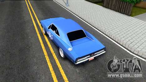 Dodge Charger 1969 for GTA San Andreas back view