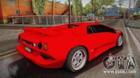 Lamborghini Diablo VT FBI 1995 for GTA San Andreas left view