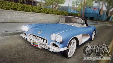Chevrolet Corvette C1 1959 for GTA San Andreas