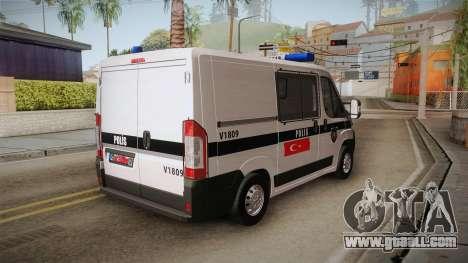 Fiat Ducato Police for GTA San Andreas left view