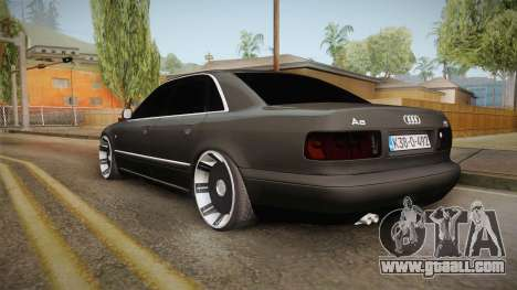 Audi A8 S8 D2 Lowstance for GTA San Andreas left view