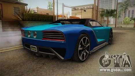 GTA 5 Truffade Nero Spyder IVF for GTA San Andreas right view