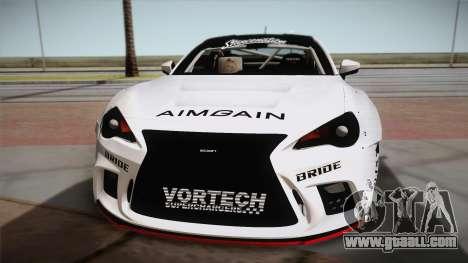 Scion FR-S Aimgain for GTA San Andreas right view
