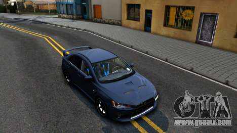 Mitsubishi Lancer X Evolution for GTA San Andreas right view