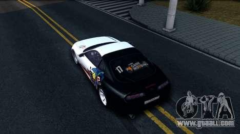 Toyota Supra Drift for GTA San Andreas back view