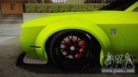 Dodge Challenger Hellcat Liberty Walk LB Perform for GTA San Andreas back left view