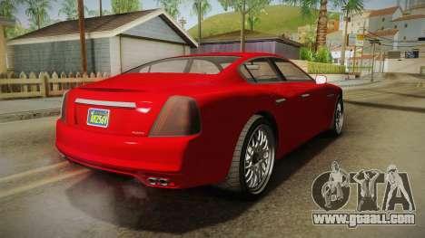 GTA 5 Albany Alpha Sedan IVF for GTA San Andreas right view