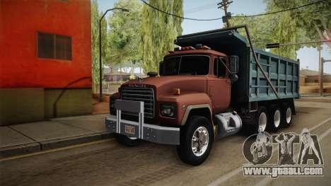 Mack RD690 Dumper Tri Axle 1992 v1.0 for GTA San Andreas