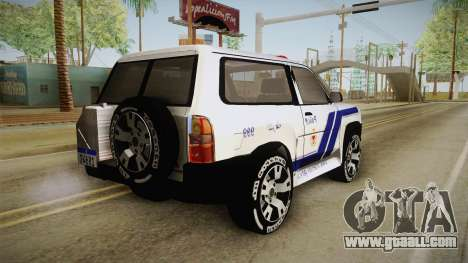 Nissan Patrol Y61 Police for GTA San Andreas left view
