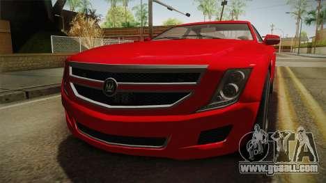 GTA 5 Albany Alpha Sedan IVF for GTA San Andreas inner view