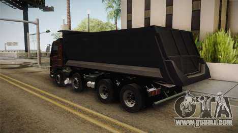 Volvo FMX Euro 5 8x4 Dumper Low for GTA San Andreas left view