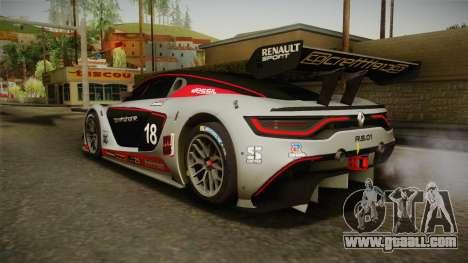 Renault Sport R.S.01 PJ2 for GTA San Andreas wheels