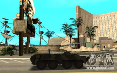 BTR 80 for GTA San Andreas back left view