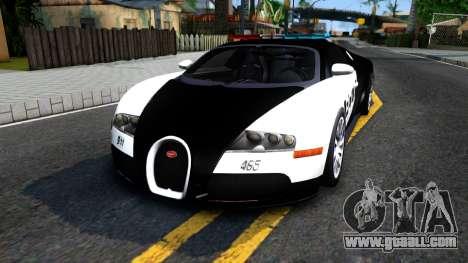 Bugatti Veyron NFS HP Police for GTA San Andreas