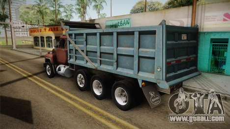 Mack RD690 Dumper 8x4 1992 v1.0 for GTA San Andreas left view