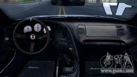 Toyota Supra Drift for GTA San Andreas inner view