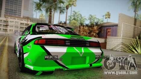 Nissan Silvia S14 Drift Speedhunters Saekano for GTA San Andreas back view