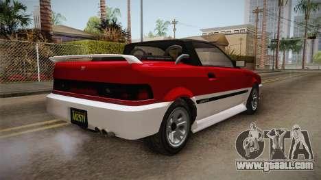 GTA 5 Dinka Blista Cabrio IVF for GTA San Andreas right view