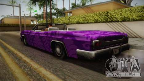 3 New Paintjobs for Blade for GTA San Andreas right view