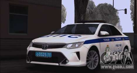 Toyota Camry for traffic police for GTA San Andreas back left view