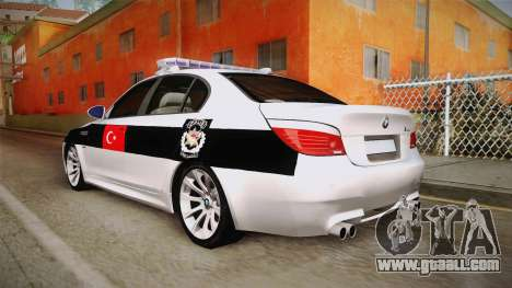 BMW M5 E60 Turkish Police for GTA San Andreas left view