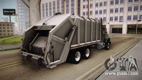 Mack RD690 Trash 1992 v1.0 for GTA San Andreas back left view