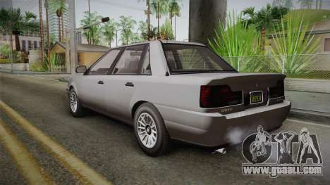 GTA 5 Vulcar Ingot Sedan IVF for GTA San Andreas left view
