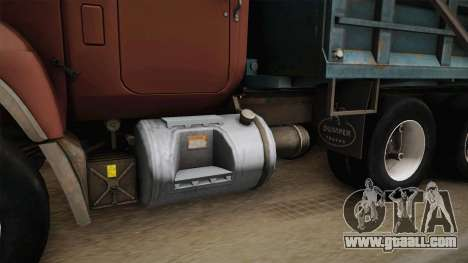 Mack RD690 Dumper Tri Axle 1992 v1.0 for GTA San Andreas inner view