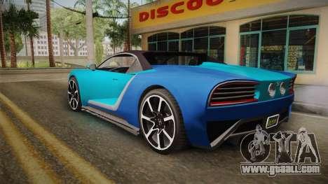 GTA 5 Truffade Nero Spyder IVF for GTA San Andreas left view