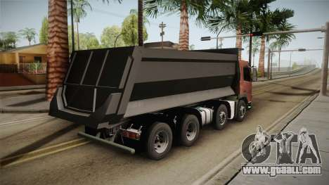 Volvo FMX Euro 5 8x4 Dumper Low for GTA San Andreas right view