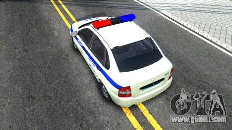 Lada Kalina ДПС for GTA San Andreas back view